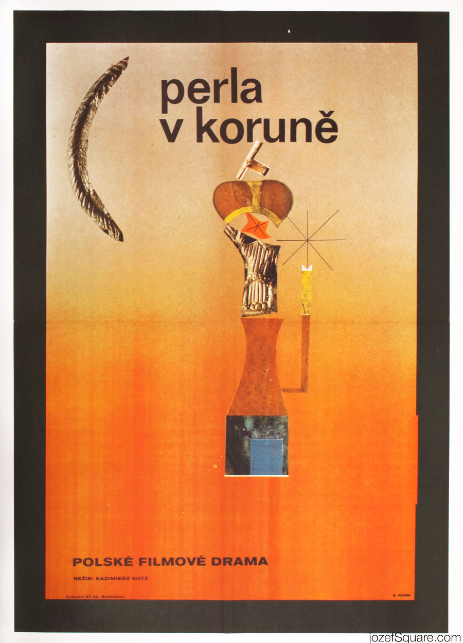 Pearl in the Crown Movie Poster, Polish Cinema