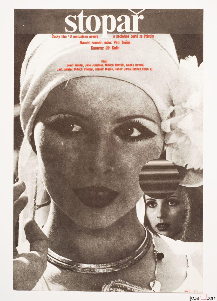 Movie Poster The Hitchhiker, 70s Milan Grygar Artwork