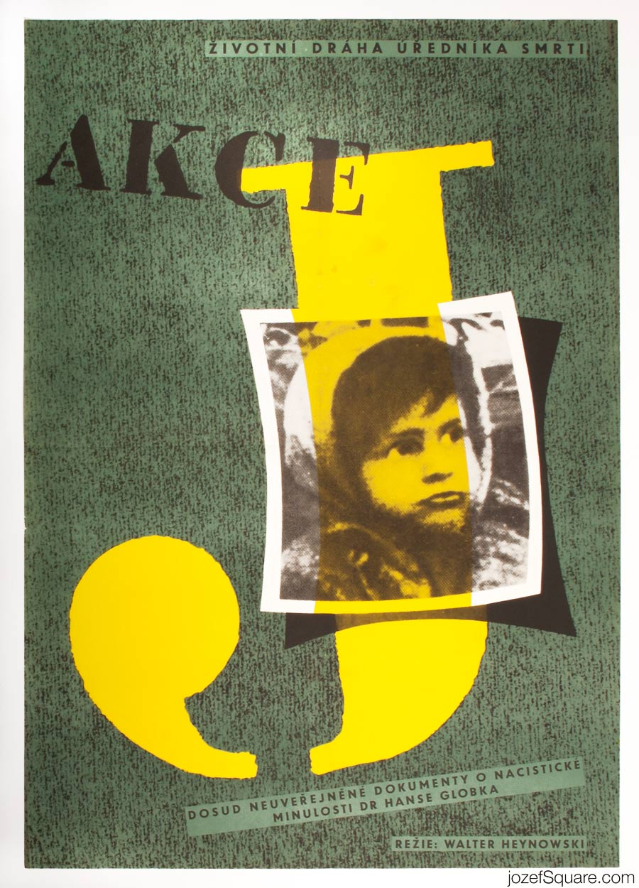 Action J Movie Poster, 60s Poster Art