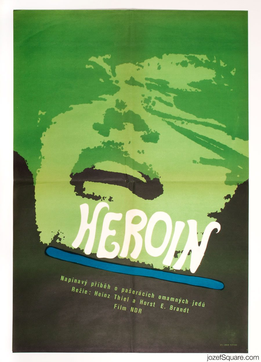 Heroin Movie Poster, 60s Poster Art