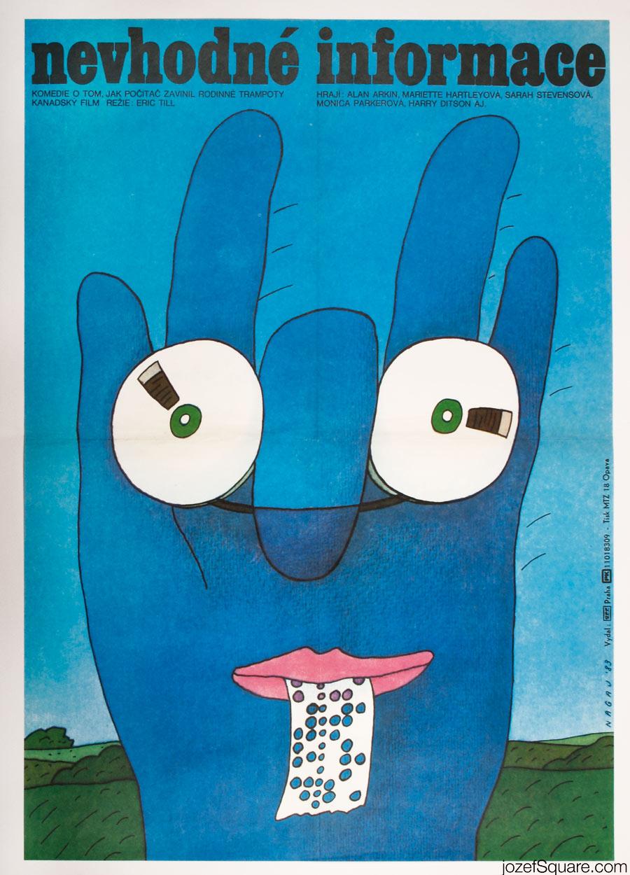 Improper Channels movie poster, Illustrated Poster Design