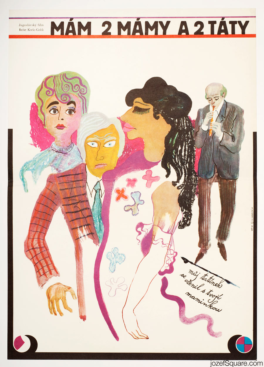 I Have Two Mothers and Two Fathers Movie Poster, 60s Vintage Poster