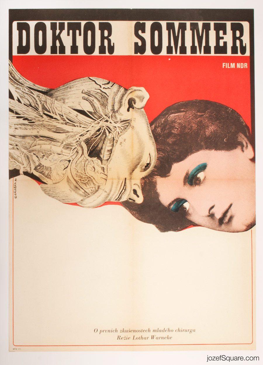 Doctor Sommer Movie Poster, 70s Poster Art