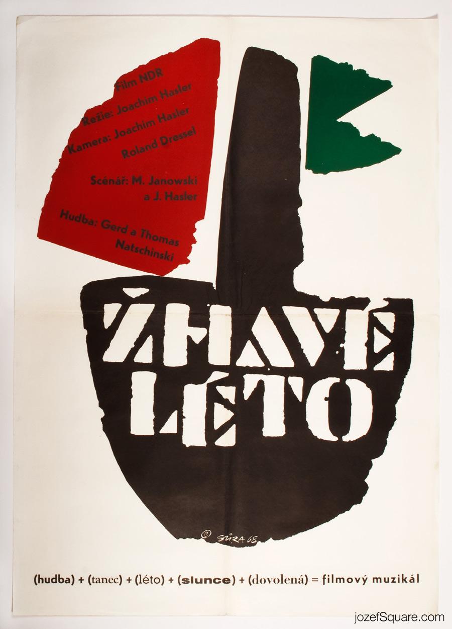 Hot Summer Movie Poster, 60s Vintage Poster Art