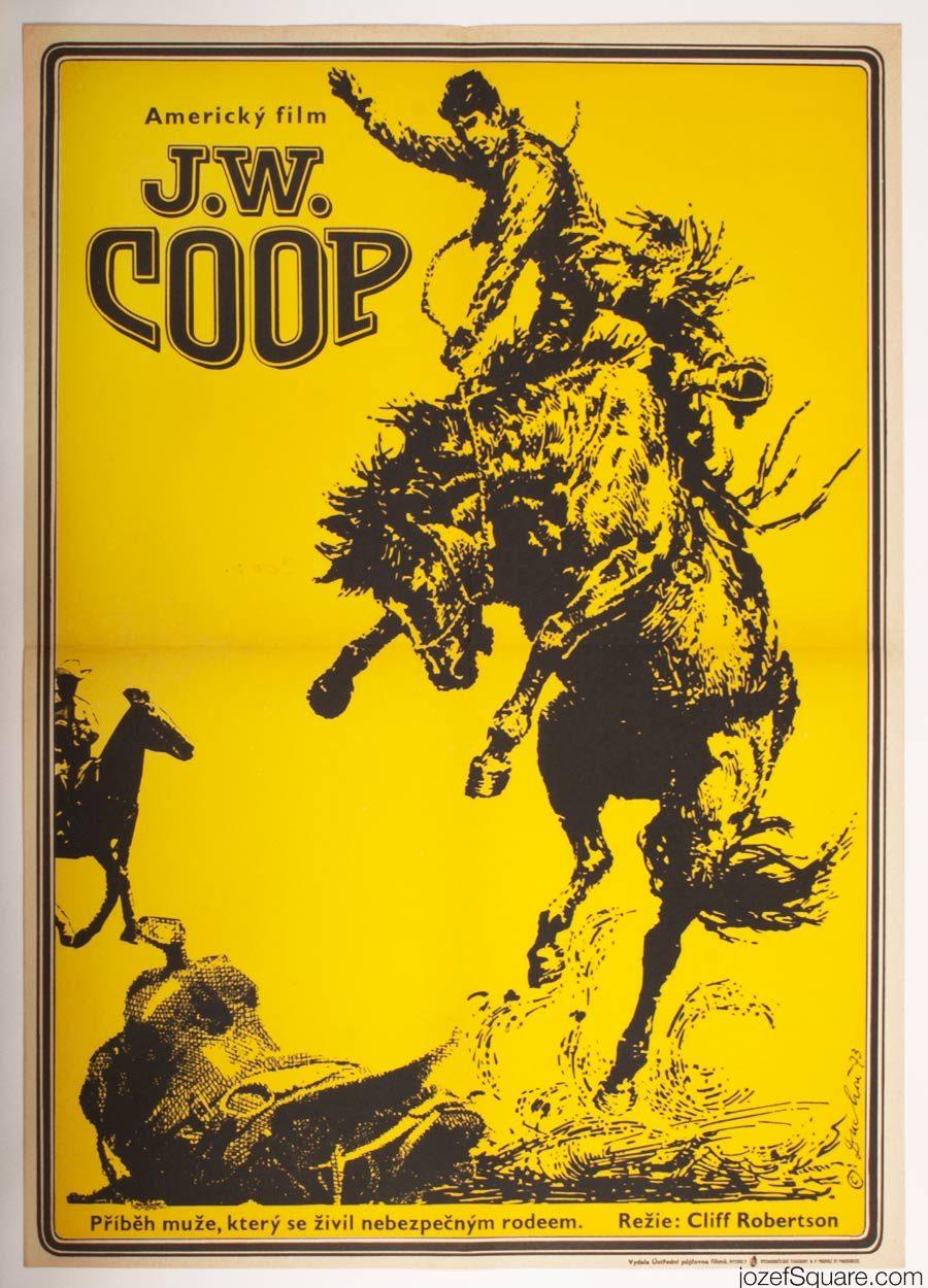 70s poster design - Western Movie Poster J W Coop 70s Vintage Poster