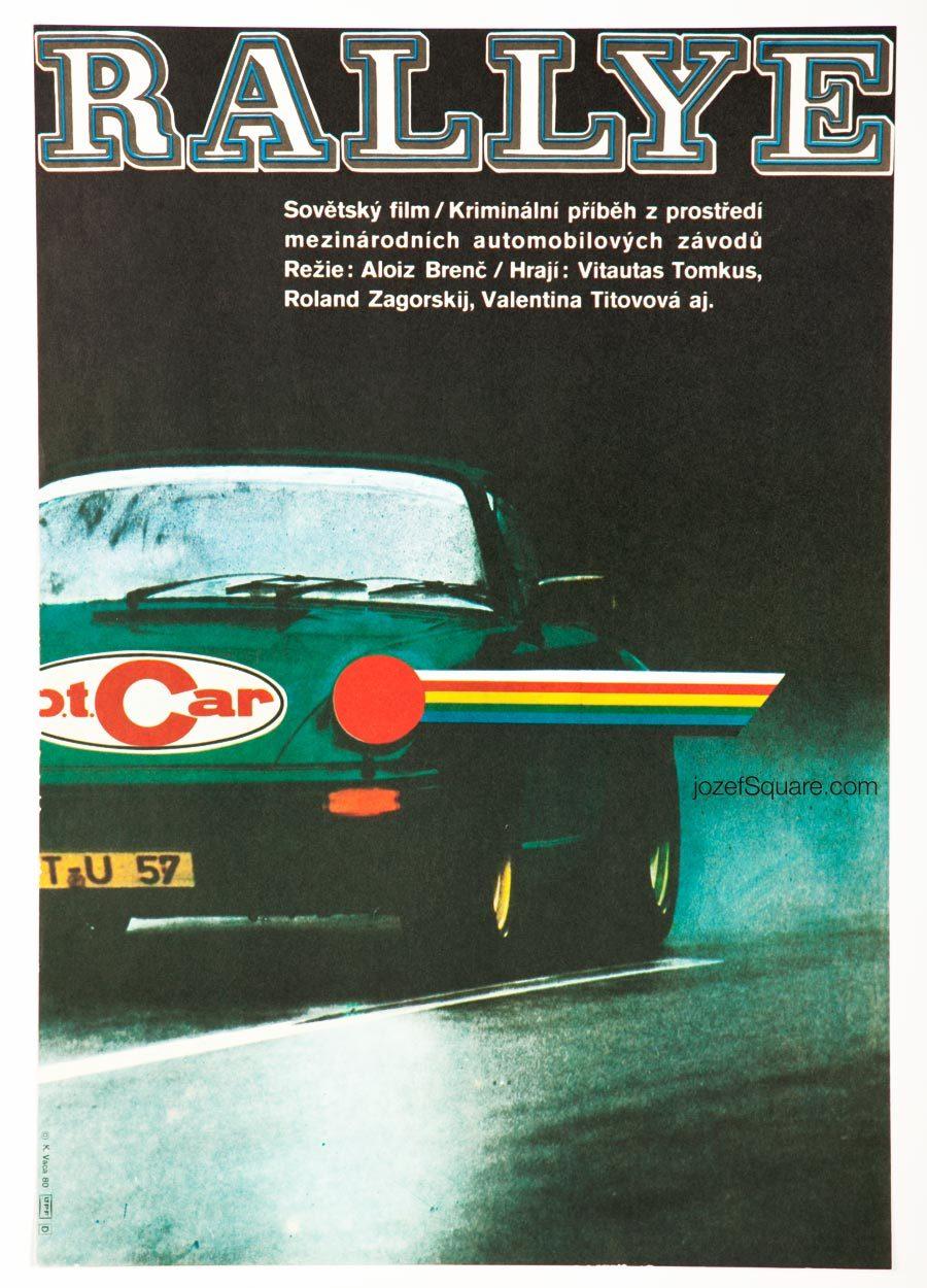Rallye Movie Poster, 80s Vintage Poster
