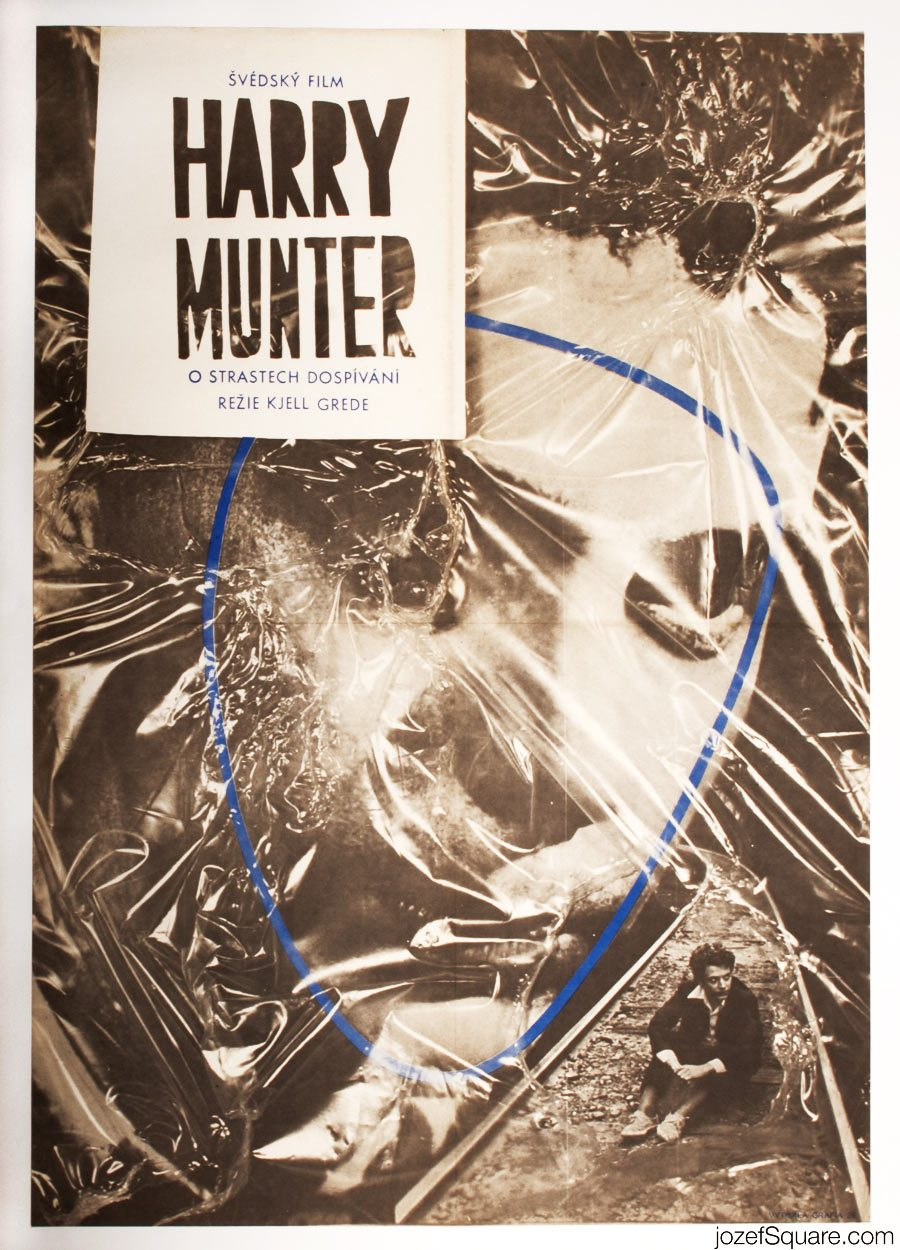 Harry Munter Movie Poster, Rare 70s Poster