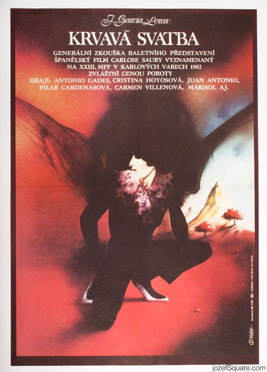 Blood Wedding Movie Poster, Federico Garcia Lorca