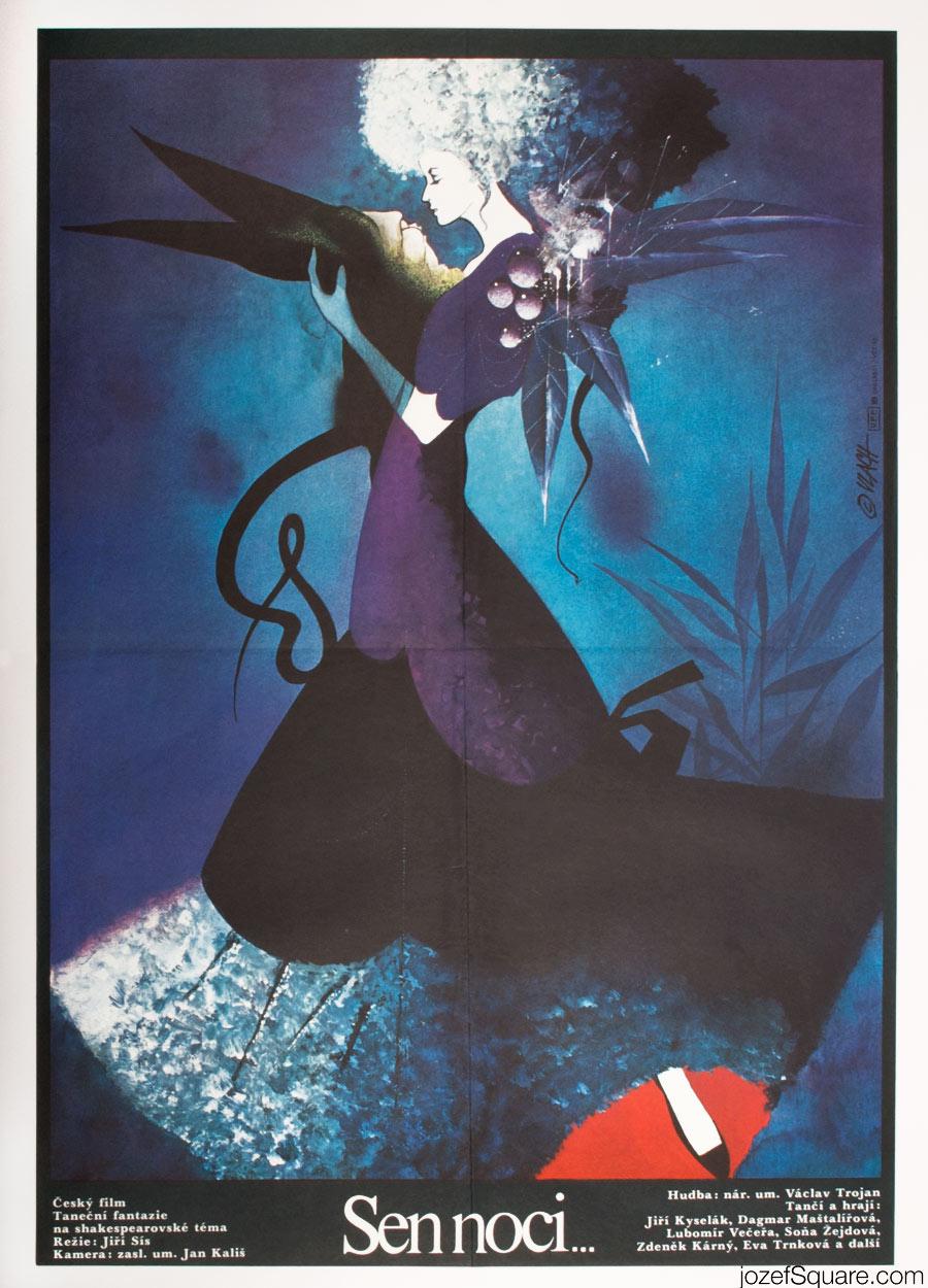 Midsummer Nights Kids Movie Poster, 1980s Poster Art