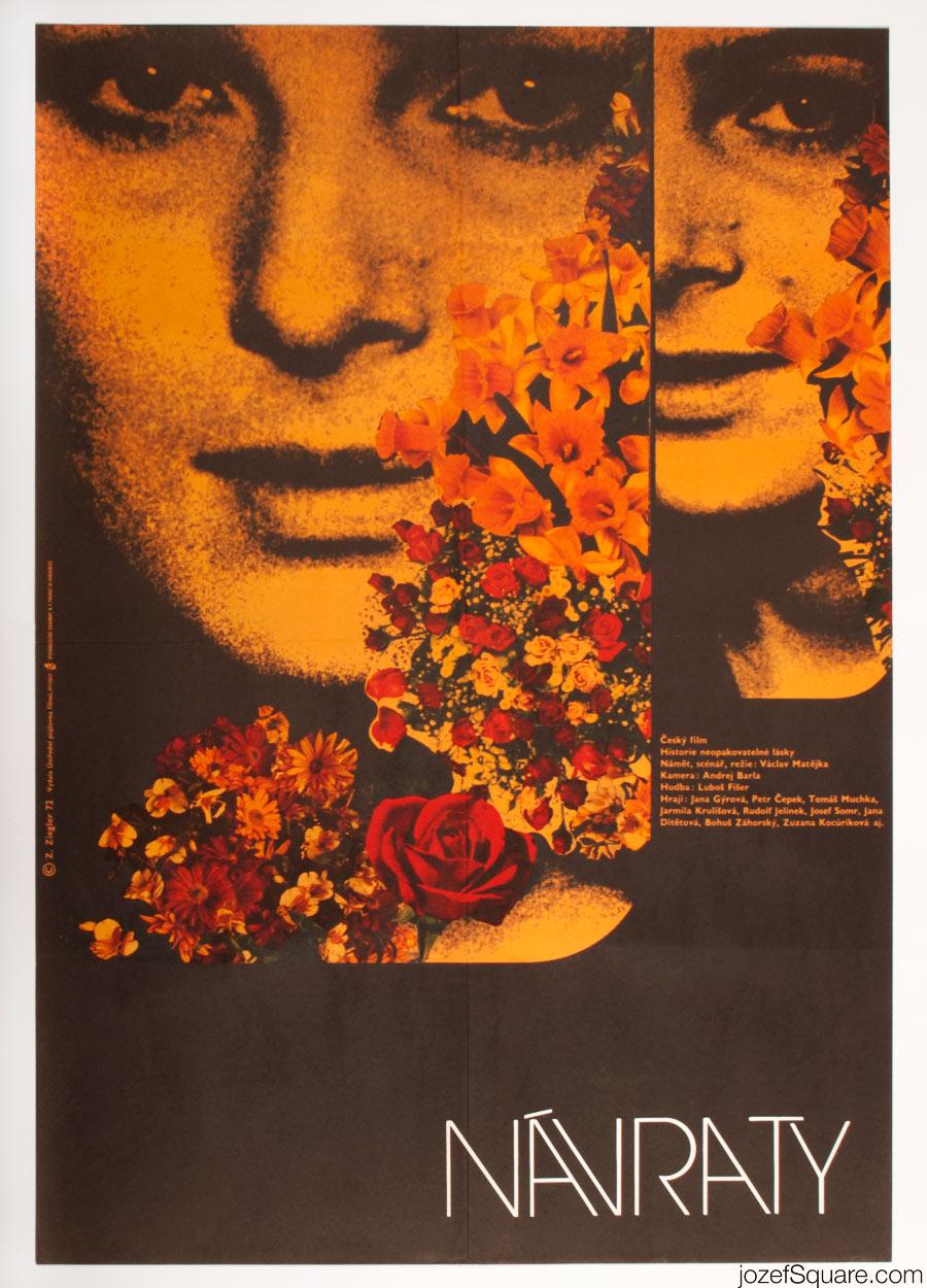 Returns Movie Poster, 70s Poster, Zdenek Ziegler