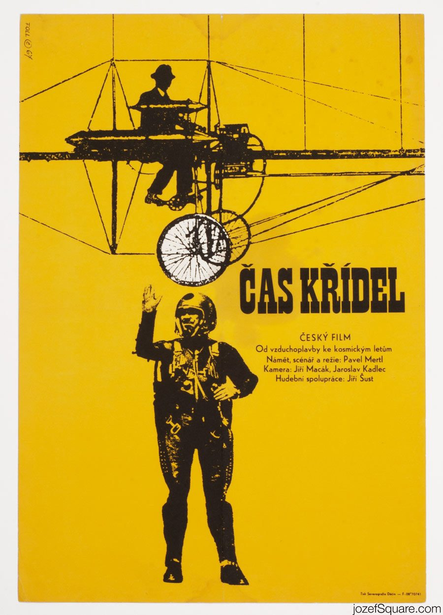 Movie Poster The Time of Wings, 60s Vintage Poster