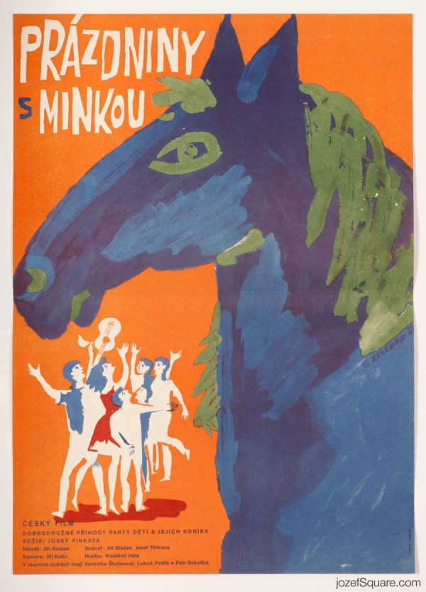 Kids Movie Poster, Holiday With Minka, 60s Poster Art
