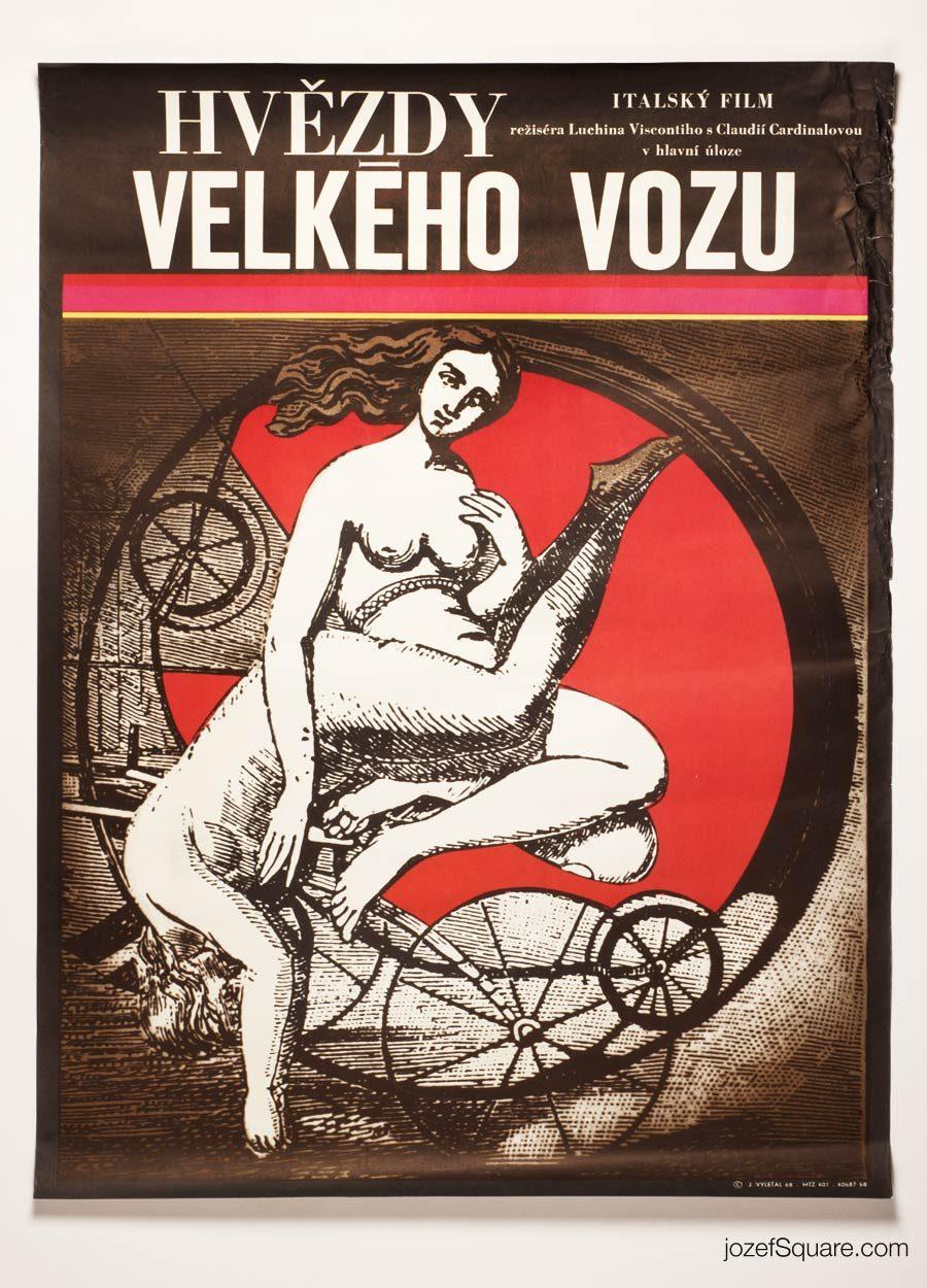 Sandra Movie Poster, Luchino Visconti, 60s Poster