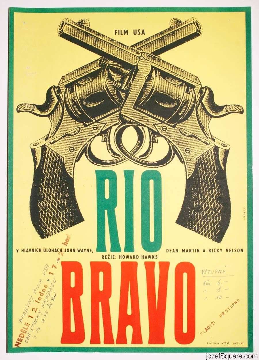 Rio Bravo Movie Poster, John Wayne Western