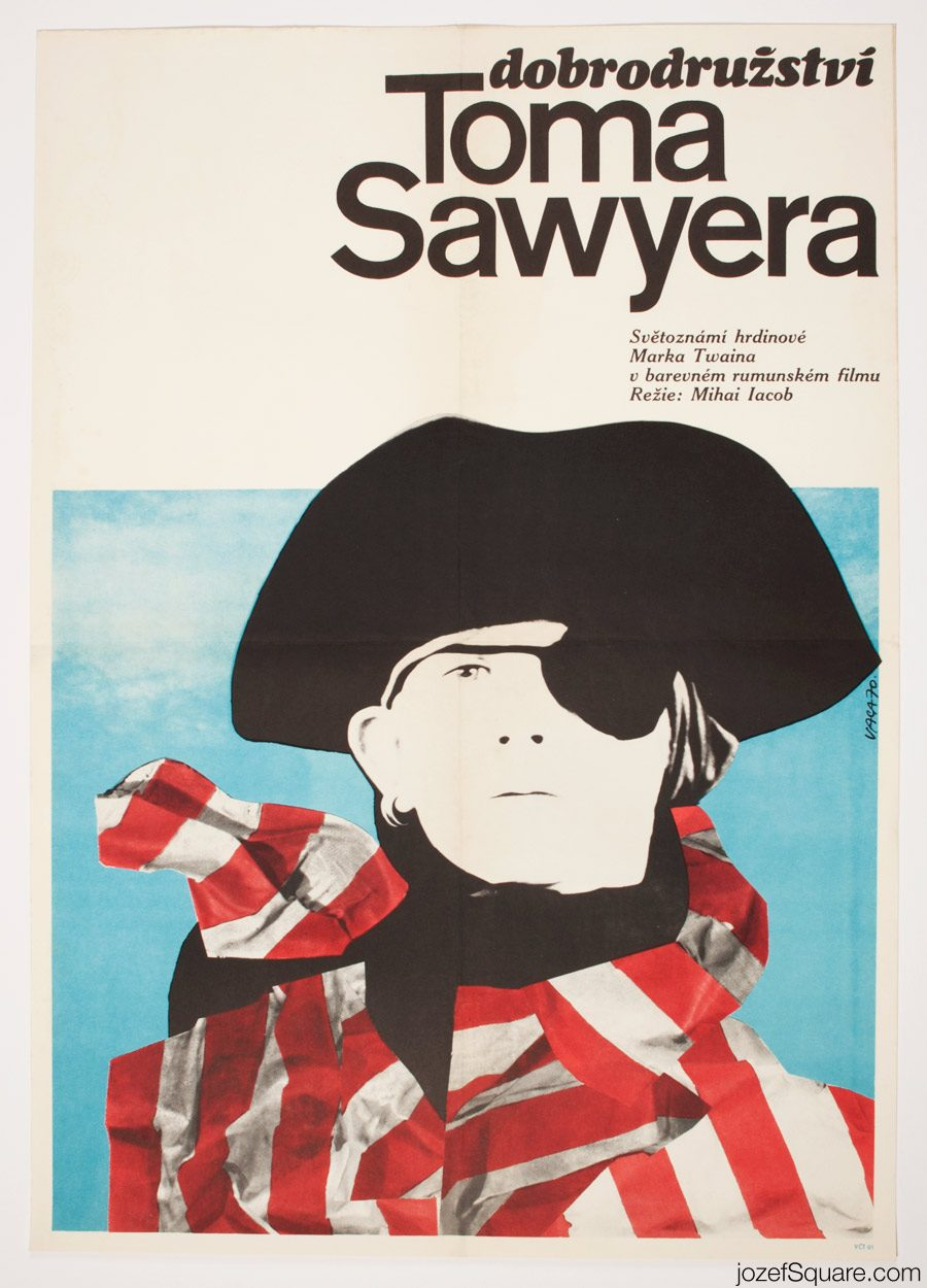 The Adventures of Tom Sawyer Movie Poster, 70s Poster Art