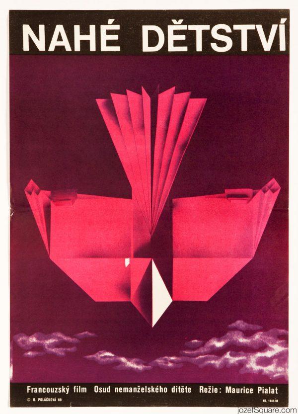Naked Childhood Movie Poster, 60s Poster Design