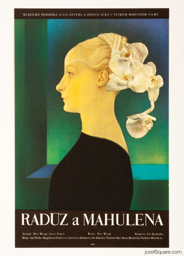 Raduz and Mahulena Movie Poster, 70s Poetic Poster Art