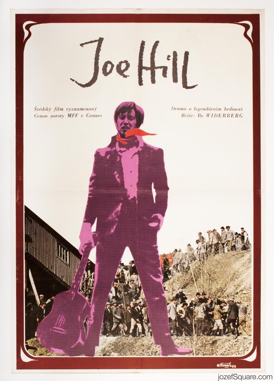 Joe Hill Movie Poster, Swedish Cinema, 70s Poster Art