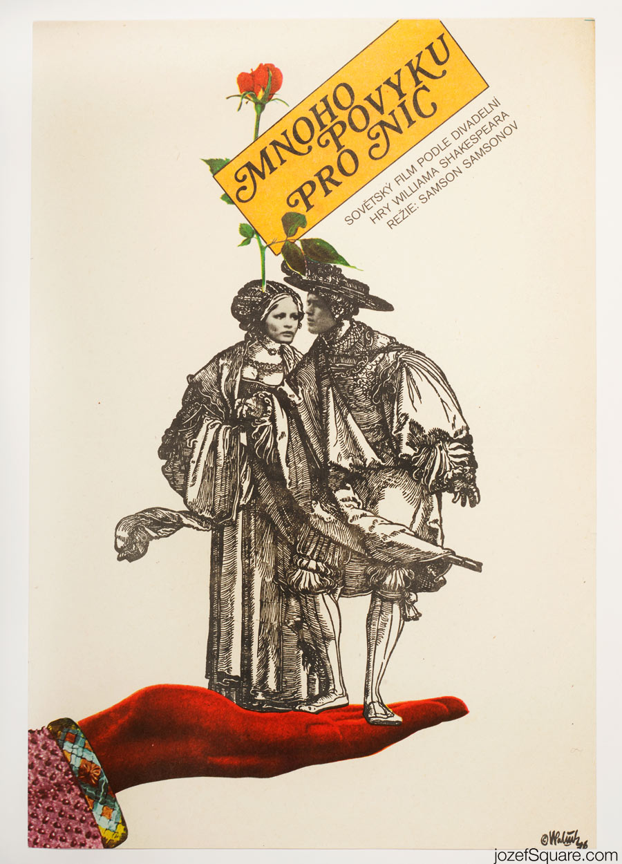 Much Ado About Nothing Movie Poster, 70s Poster Art