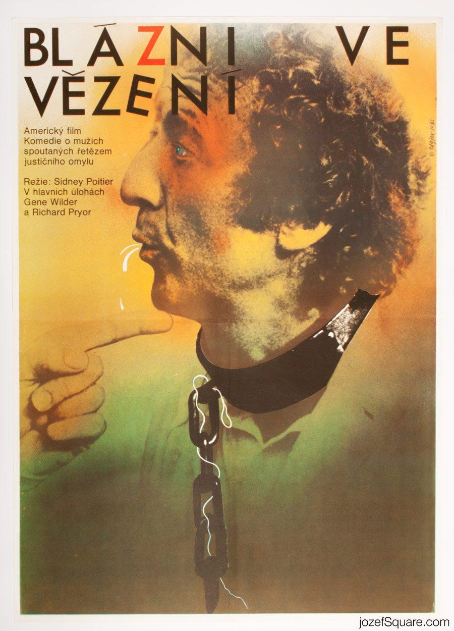 Stir Crazy Movie Poster, Sidney Poitier