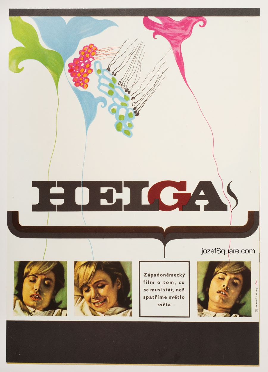 Helga Movie Poster, West German Documentary, 60s Poster