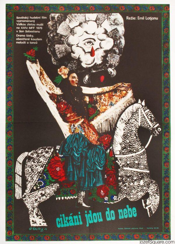 Gypsies Are Found Near Heaven Film Poster, Karel Teissig