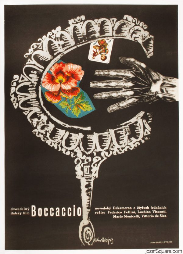 Boccaccio 70 Movie Poster, Karel Teissig Artwork