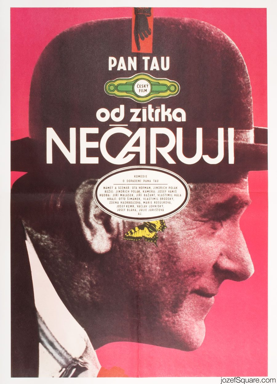 Mr. Tau Movie Poster, Karel Vaca, 70s Poster