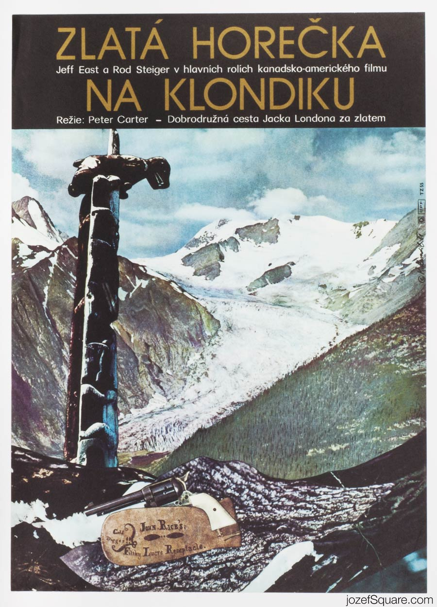 Klondike Fever Movie Poster, Jack London, 70s Poster Art