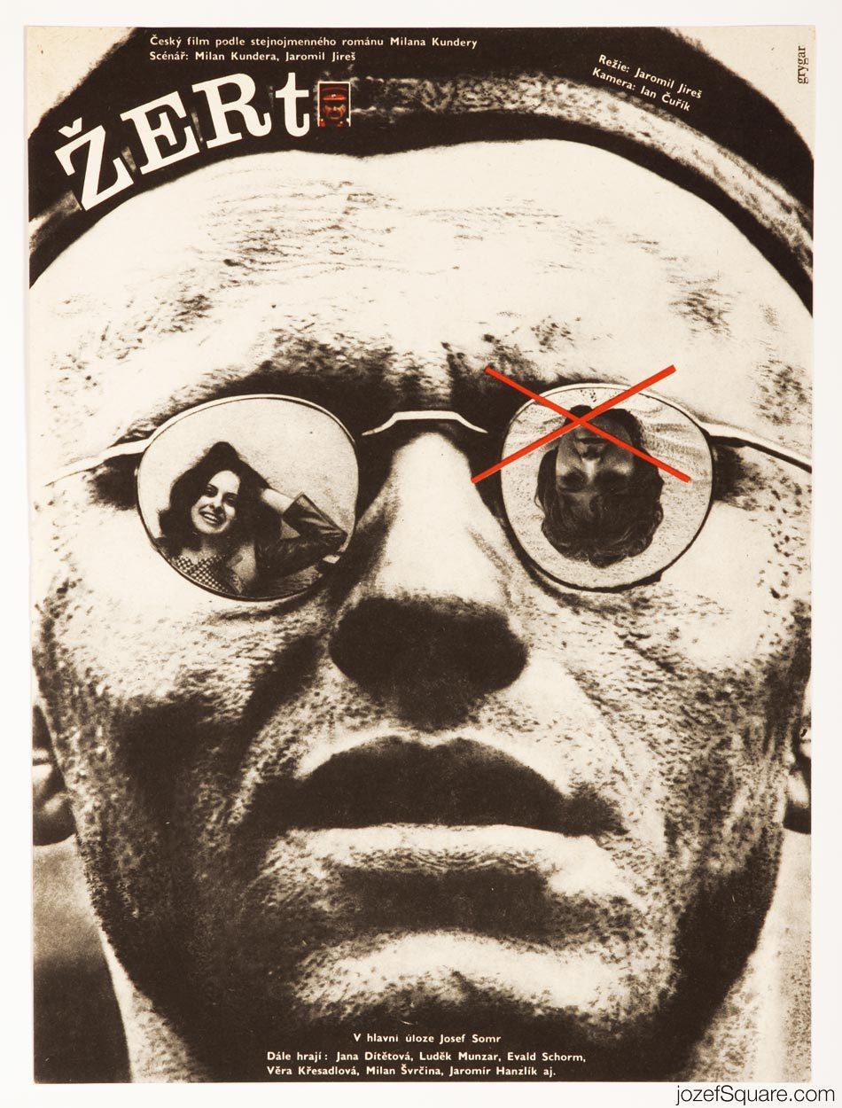 The Joke Movie Poster, Milan Kundera, 60s Poster Design