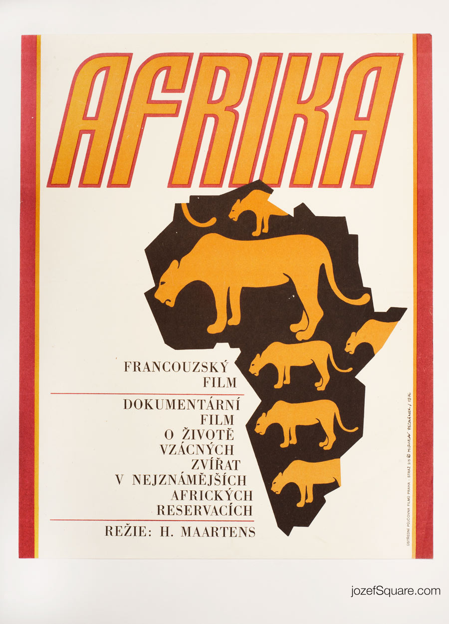 Africa Movie Poster, 70s Poster Art
