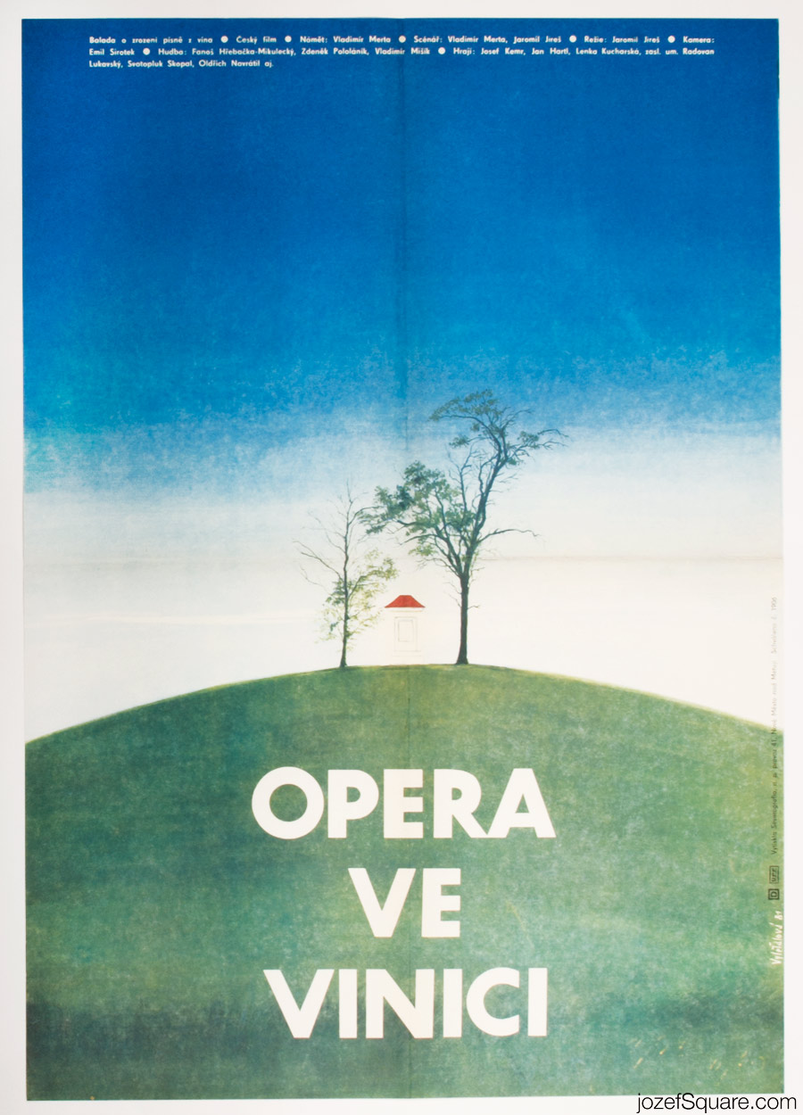 Vinyard Opera Movie Poster, 70s Illustrated Poster Art