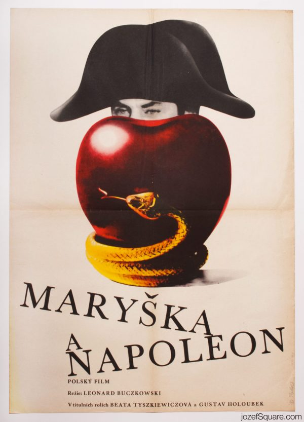 Maria and Napoleon Movie Poster, 60s Polish Cinema