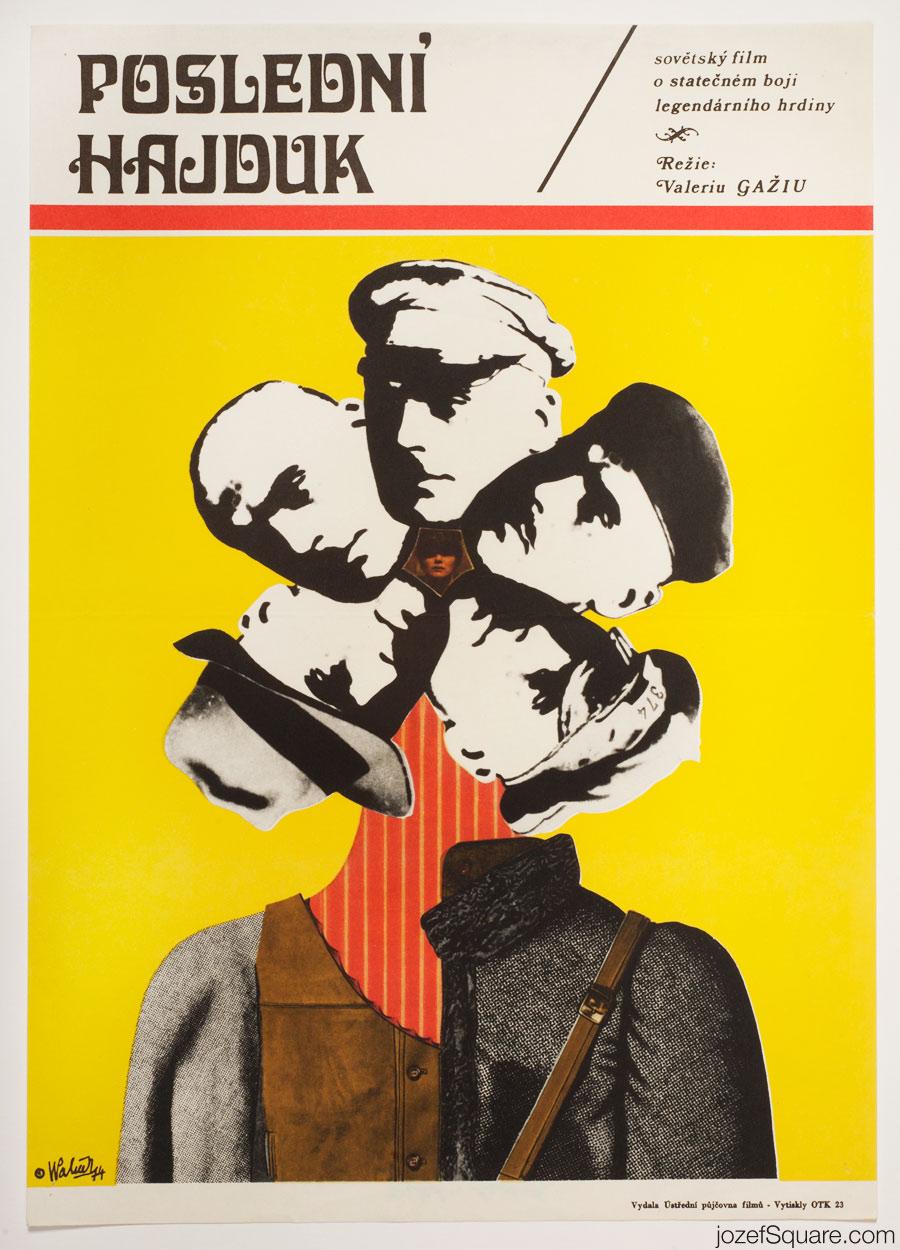 The Last Hajduk Movie Poster, 70s Collage Art