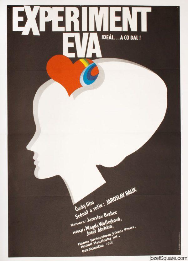 Experiment Eva Movie Poster, Minimalist Poster Art