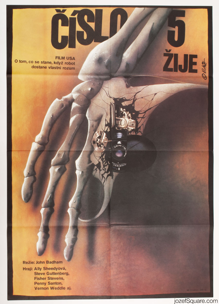 Short Circuit Movie Poster, Sci-fi Poster Art