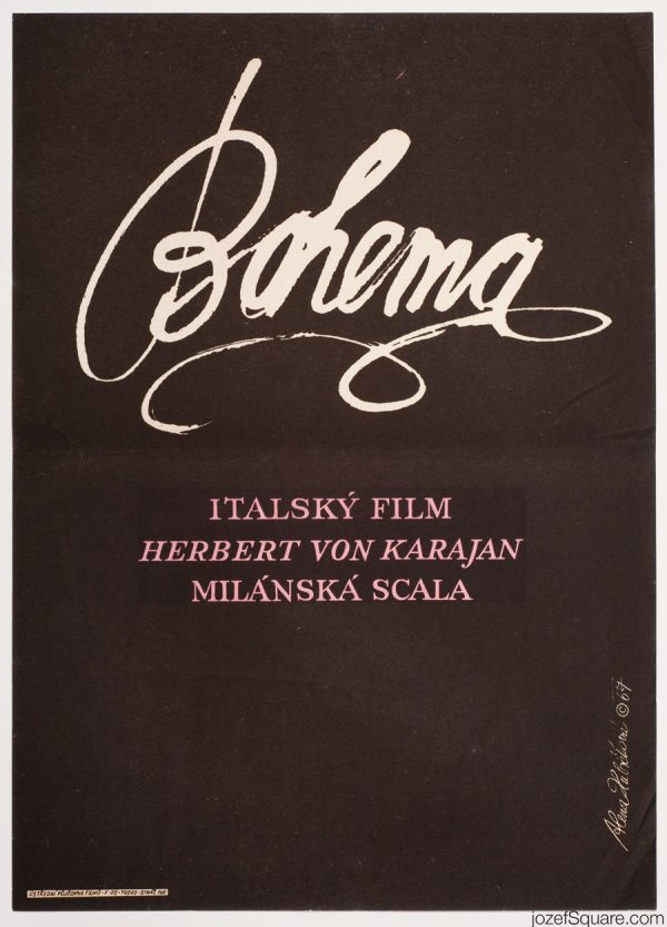 La Boheme Movie Poster, Franco Zeffirelli