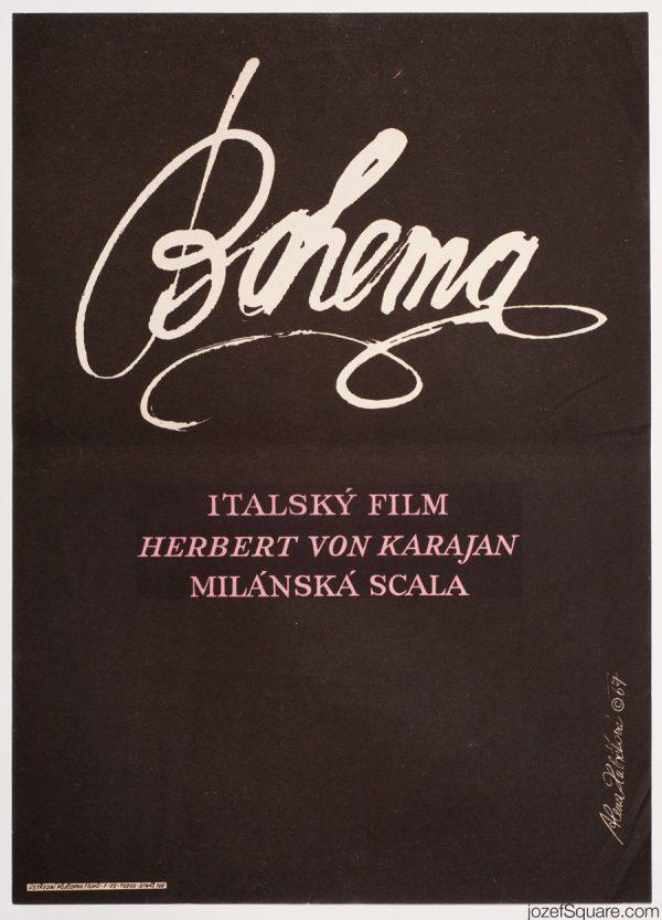 La Boheme Movie Poster, Franco Zeffirelli