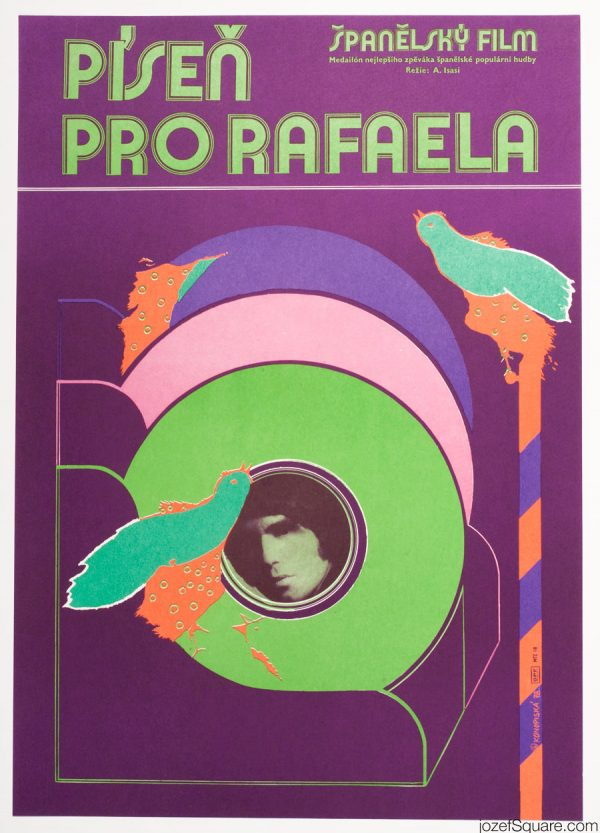 Rafael en Raphael Movie Poster, 70s Abstract Poster Art