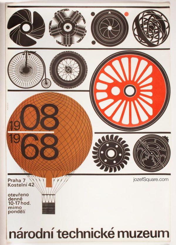 National Technical Museum Prague Poster, Minimalist Poster Design