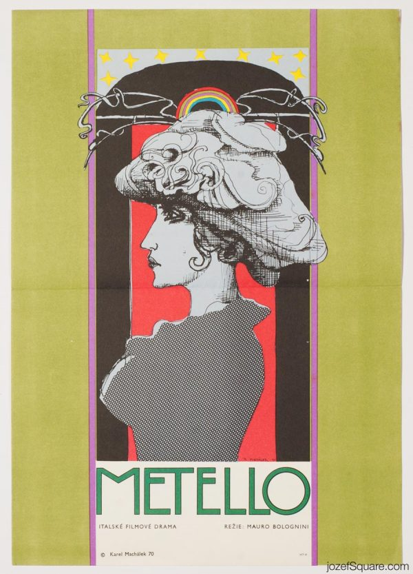 Metello Movie Poster, Italian Cinema, 70s Artwork