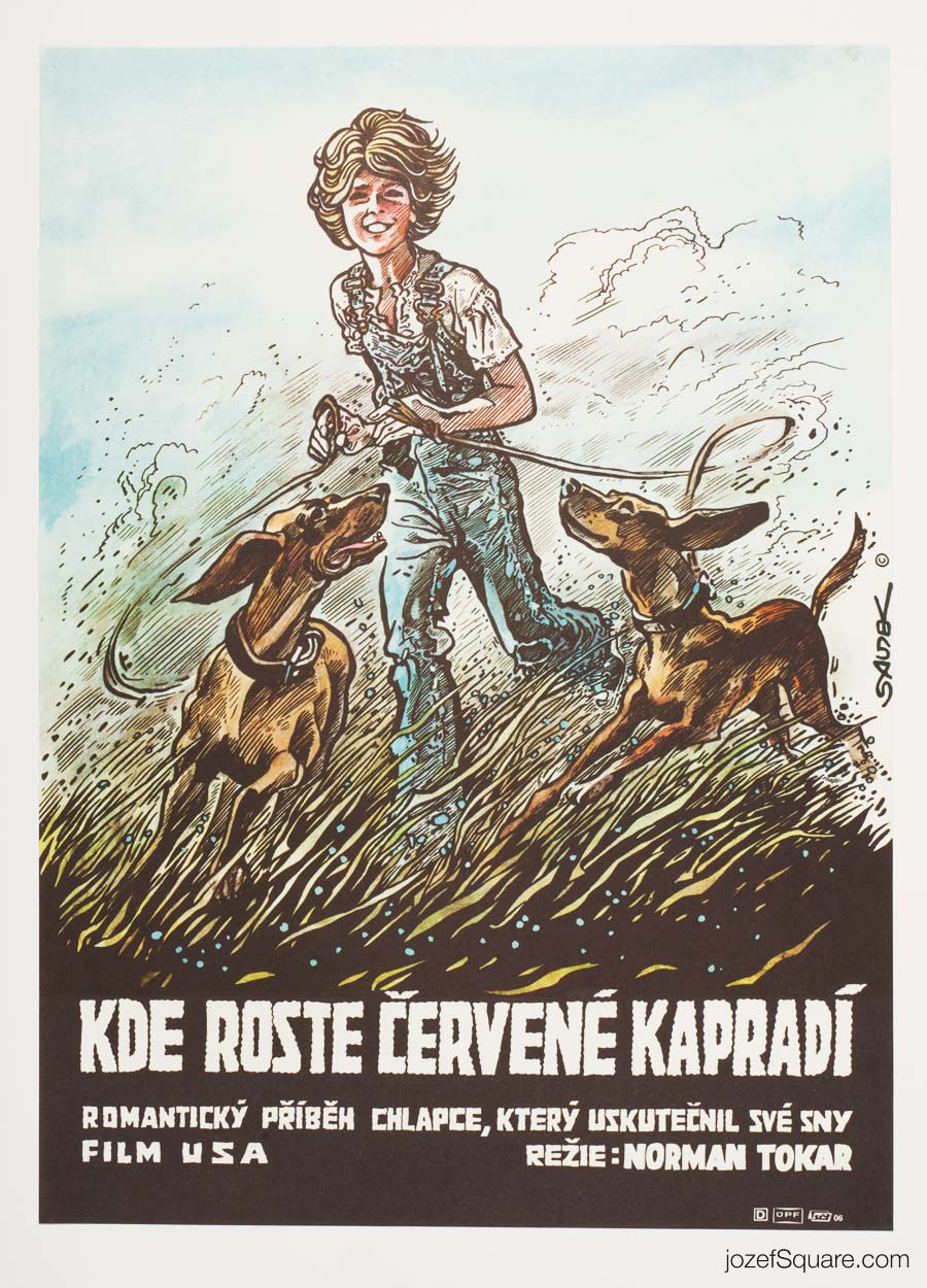 Where the Red Fern Grows Movie Poster, Illustrated Poster Art
