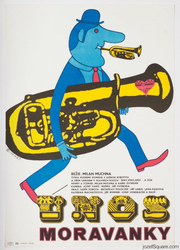 Kidnapping the Moravanka Brass Band Movie Poster, Illustrated Movie Poster, Karel Vaca