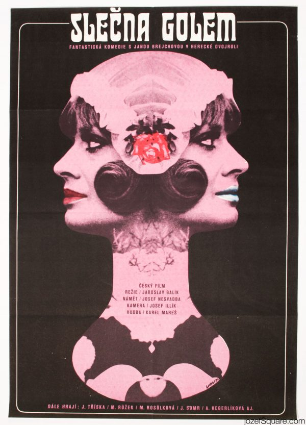 Miss Golem Movie Poster, Collage Poster Art