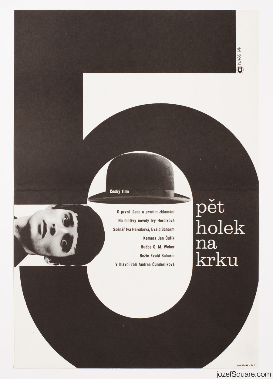 Five Girls Around the Neck Movie Poster, Minimalist Collage Art