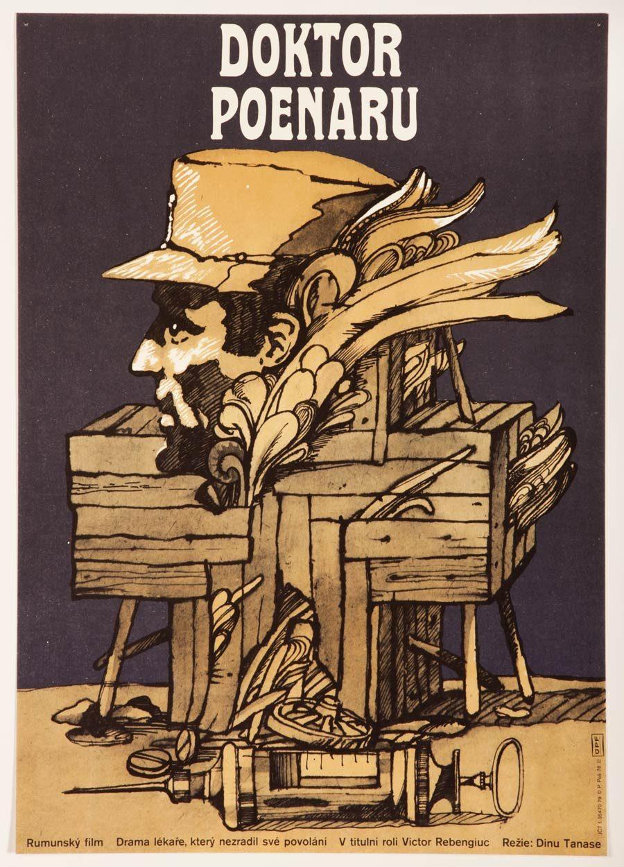 Doctor Poenaru Movie Poster, Surreal Illustrated Poster Artwork