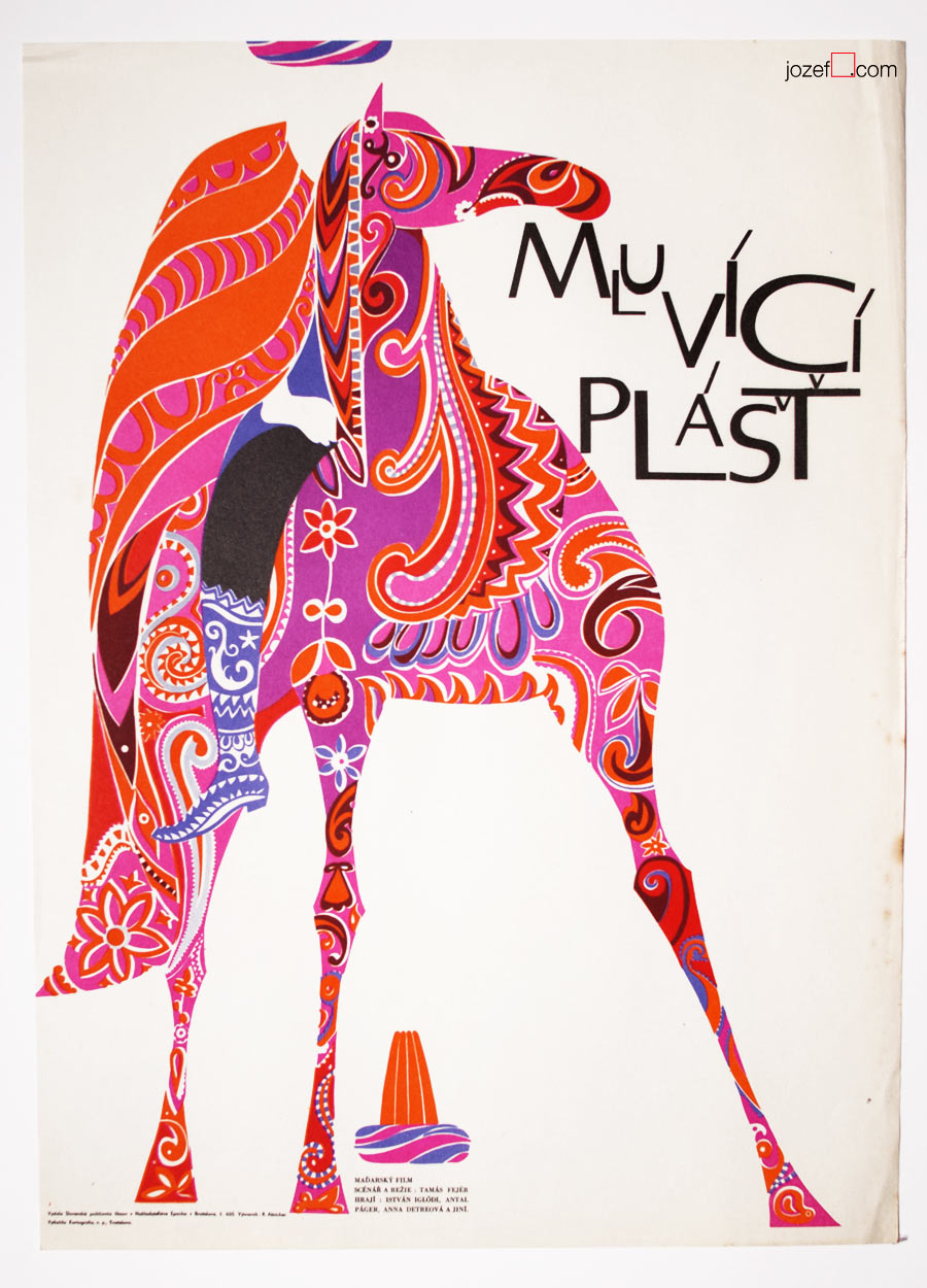 Talking Caftan Movie Poster, 60s Poster Art