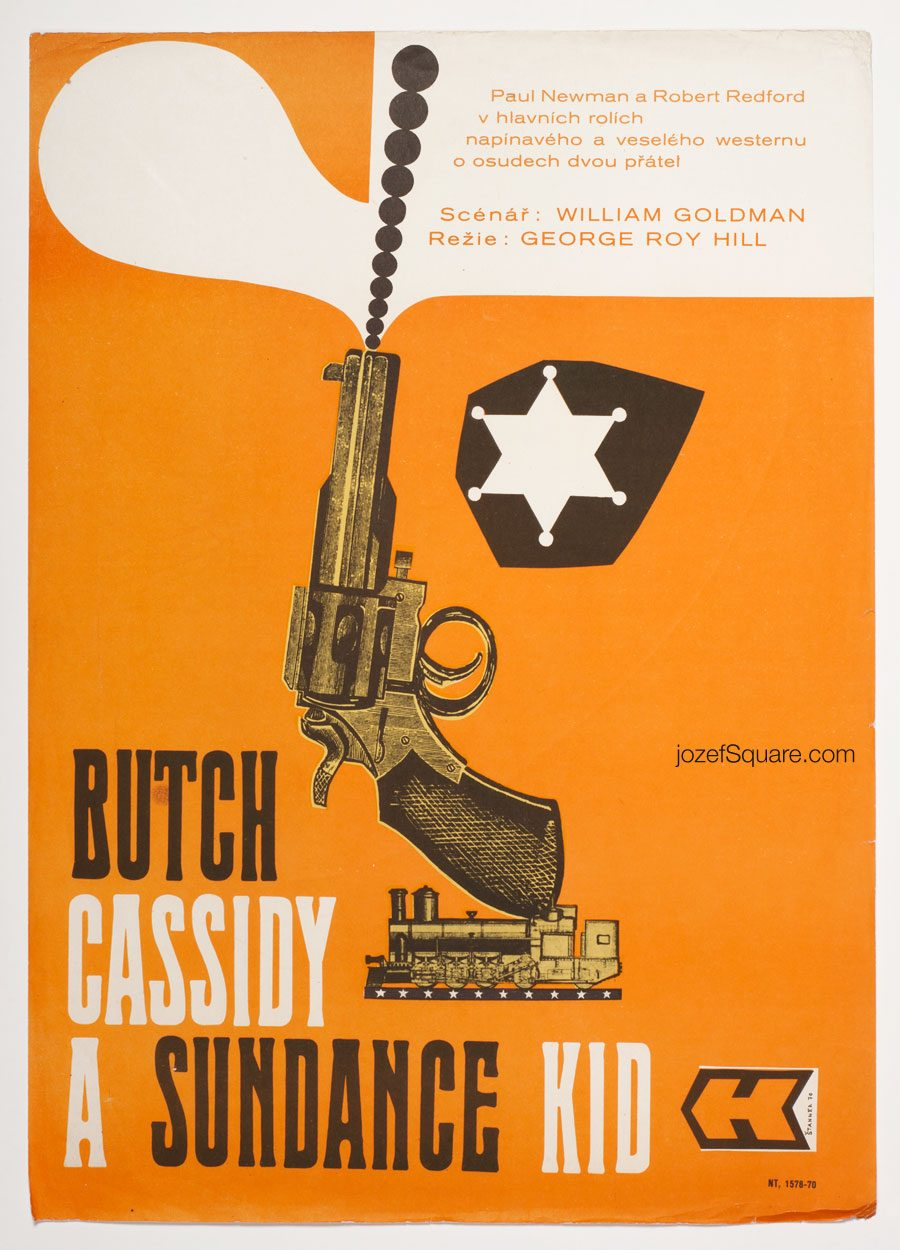Butch Cassidy and the Sundance Kid Movie Poster, 70s Poster Magic