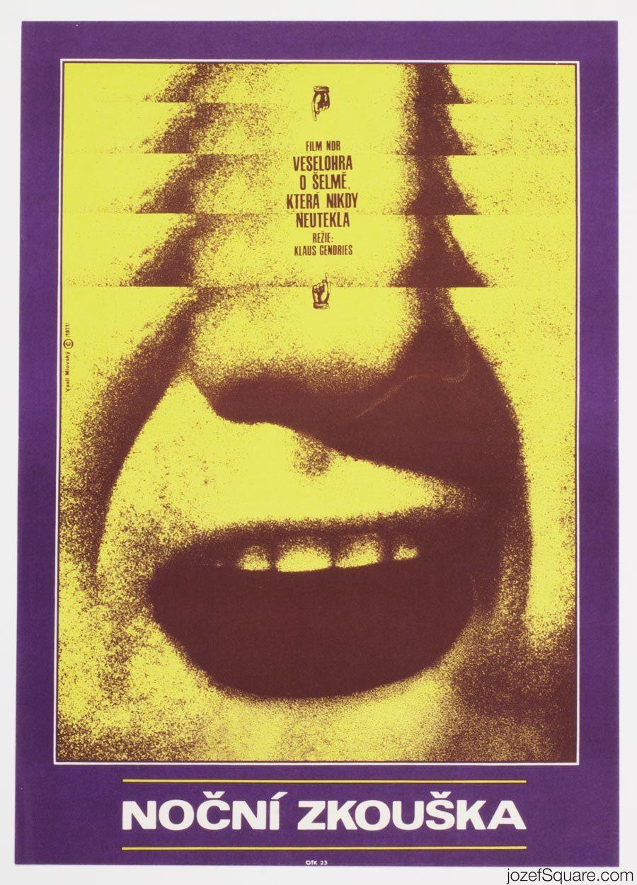 Evening Rehearsal Movie Poster, MInimalist Poster Design