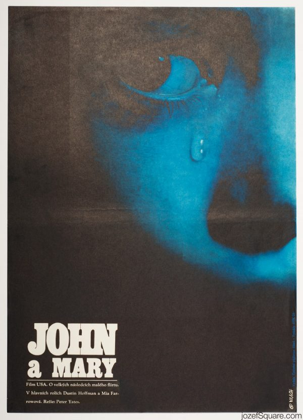 John and Mary Movie Poster, Minimalist Poster Design